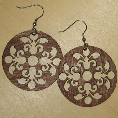 14792161613008_380x380 Fülbevalók: Kerek keleti mintás fa fülbevaló 2 | MeDáLia - Egyedi Ajándéktárgyak