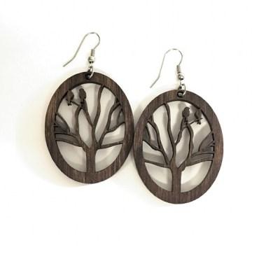 IMG_6528_380x380 Fülbevalók: Fán ülő madarak mintával készült fa fülbevaló   MeDáLia - Egyedi Ajándéktárgyak
