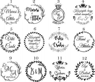 esküvőikereknyomda12_380x380 Esküvői nyomda pecsét bélyegző | MeDáLia - Egyedi Ajándéktárgyak